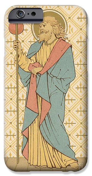 Robe Drawings iPhone Cases - St James the Great iPhone Case by English School