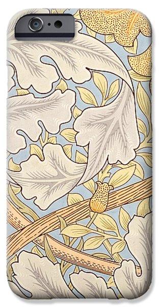 St James Wallpaper Design iPhone Case by William Morris