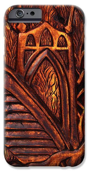 River Reliefs iPhone Cases - St. John BridgeRelic iPhone Case by Carlo Olkeriil