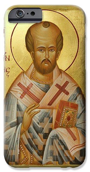 St John Chrysostom iPhone Case by Julia Bridget Hayes