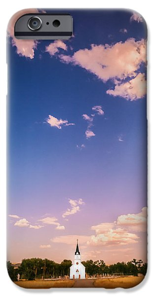 St John The Evangelist Photographs iPhone Cases - St John the Evangelist Catholic Church   iPhone Case by Rich Franco
