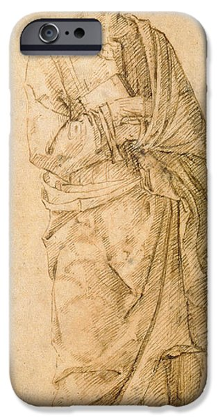 Preparatory Study iPhone Cases - St. John the Evangelist iPhone Case by Italian School