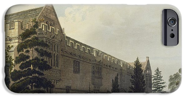 Quad iPhone Cases - St Johns College Seen From The Garden iPhone Case by Frederick Mackenzie