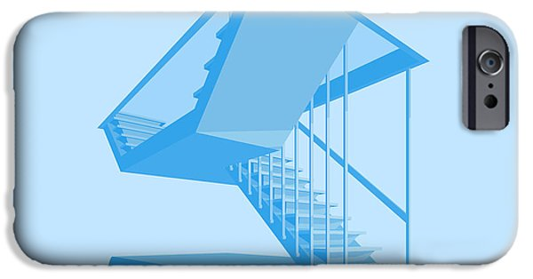 Brutalism iPhone Cases - St Johns Stairs iPhone Case by Peter Cassidy