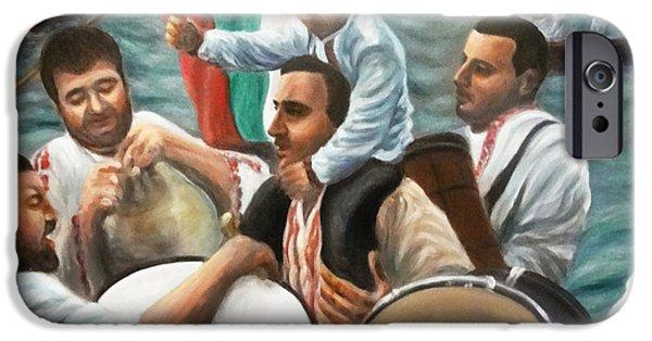 River Jordan Paintings iPhone Cases - St Jordans day in Bulgaria iPhone Case by Viliana Atanasova