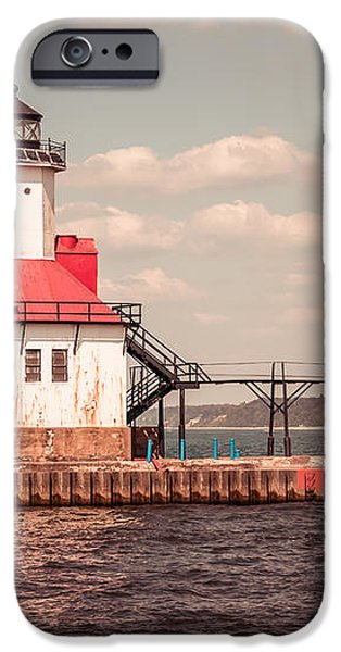St. Joseph Lighthouse Vintage Picture  Photo iPhone Case by Paul Velgos
