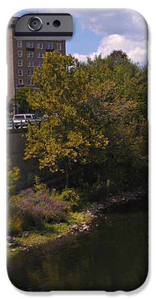 St. Joseph River Panorama iPhone Case by Anna Lisa Yoder