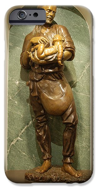 St Joseph the Worker iPhone Case by Philip Ralley