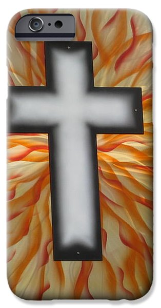 St. Josephs Cross iPhone Case by Rick Roth