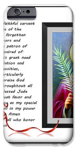 St. Jude Patron of Hopeless Cases - Prayer - Petition iPhone Case by Barbara Griffin