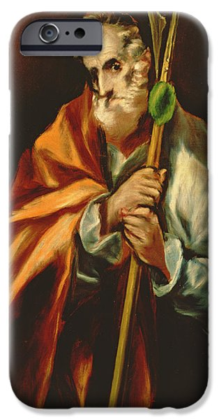Martyr iPhone Cases - St. Jude Thaddeus, 1606 Oil On Canvas iPhone Case by El Greco