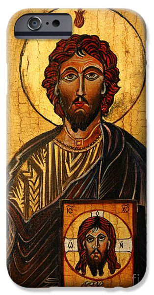 Pentecost iPhone Cases - St. Jude The Apostle iPhone Case by Ryszard Sleczka