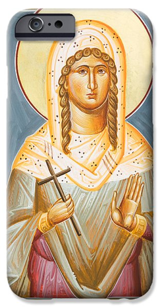 St Julia Icon iPhone Cases - St Julia of Carthage iPhone Case by Julia Bridget Hayes