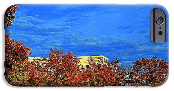 Autumn iPhone Cases - St. Louis -  Blue Sky In Autumn - Luther  Fine Art   iPhone Case by Luther Fine Art