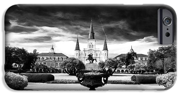 John Rizzuto iPhone Cases - St. Louis Cathedral iPhone Case by John Rizzuto