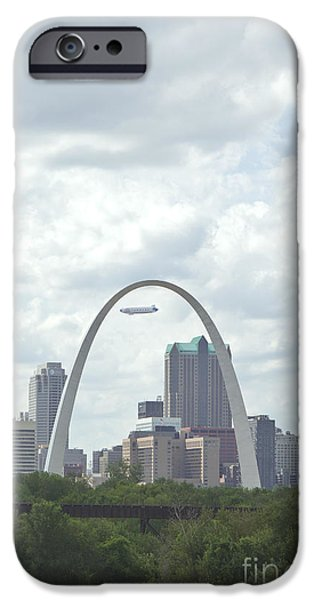 Kay Pickens iPhone Cases - St. Louis Cityscape iPhone Case by Kay Pickens