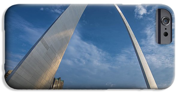 Recently Sold -  - River iPhone Cases - St. Louis Gateway Arch Sunrise iPhone Case by David Haskett