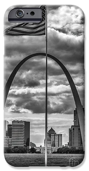 Betsy Ross iPhone Cases - St. Louis Missouri Gateway Arch 9757 iPhone Case by David Haskett