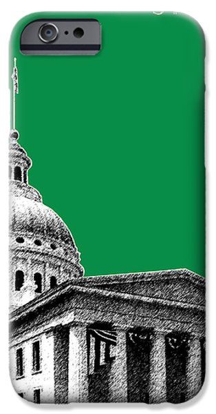 Pen And Ink iPhone Cases - St Louis Skyline Old Courthouse - Forest iPhone Case by DB Artist