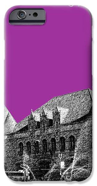 Union Digital Art iPhone Cases - St Louis Skyline Union Station - Plum iPhone Case by DB Artist
