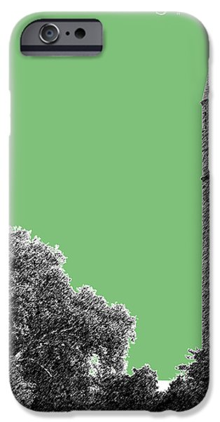 Pen And Ink iPhone Cases - St Louis Skyline Water Tower - Apple iPhone Case by DB Artist
