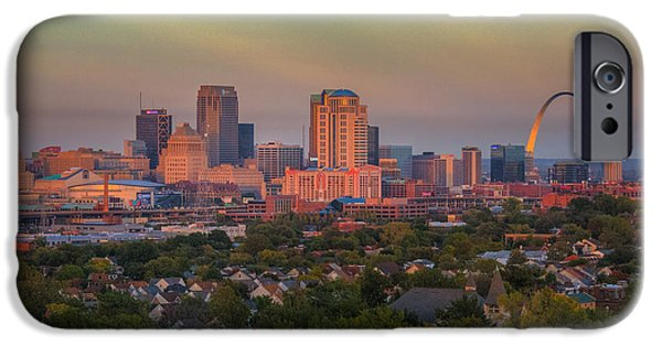 iPhone Cases - St. Louis Sunset from the Water Tower iPhone Case by Anne Warfield
