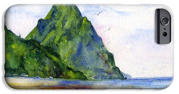 Island iPhone Cases - St. Lucia iPhone Case by John D Benson