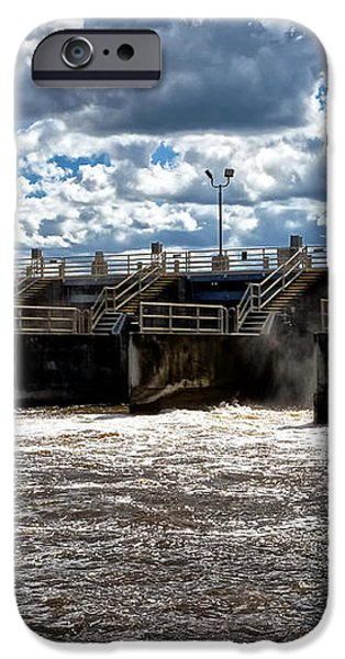 St Lucie Lock and Dam 2 iPhone Case by Dan Dennison