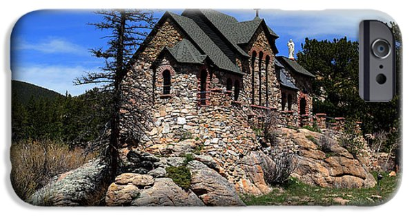 Chapel On The Rock iPhone Cases - St. Malo Chapel iPhone Case by Dana Bechler