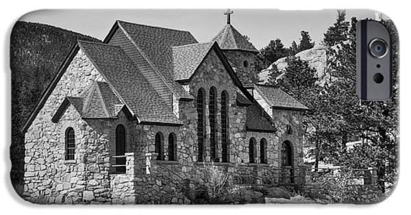 Pope John Paul Ii iPhone Cases - St Malo Chapel On the Rock Colorado BW iPhone Case by James BO  Insogna