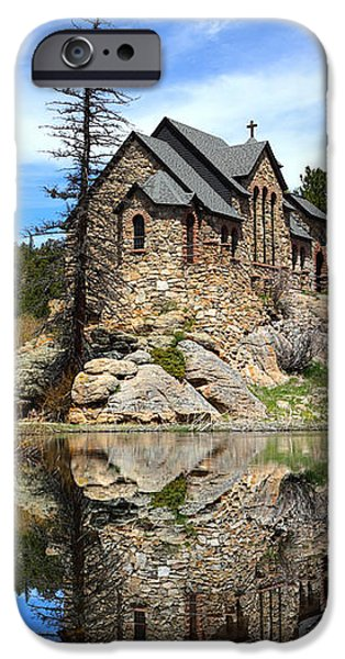 Chapel On The Rock iPhone Cases - St. Malo Church iPhone Case by Shane Bechler