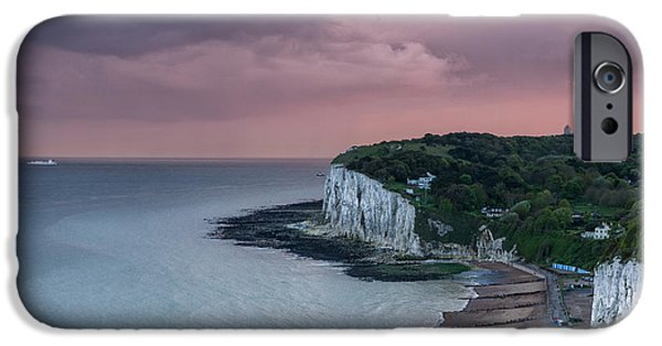 Margaret iPhone Cases - St margarets Bay Dover iPhone Case by Ian Hufton