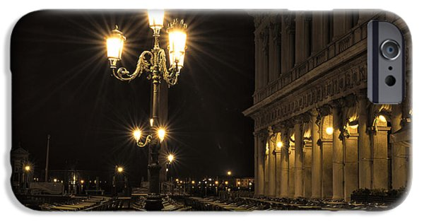 Piazza San Marco iPhone Cases - St Marks Square at night iPhone Case by Marion Galt