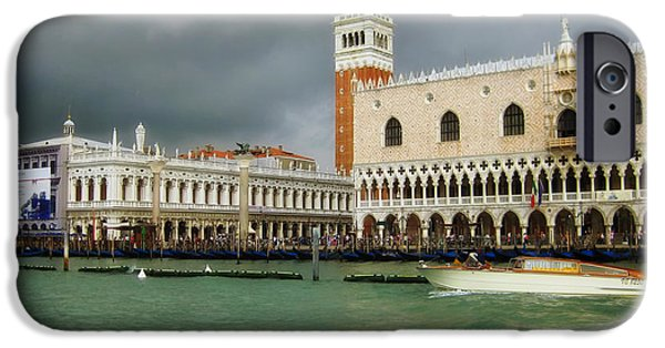 Beauty Mark Photographs iPhone Cases - St Marks Square - Venice iPhone Case by Mountain Dreams