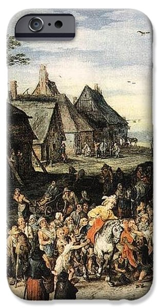 St Martin iPhone Case by Jan Brueghel
