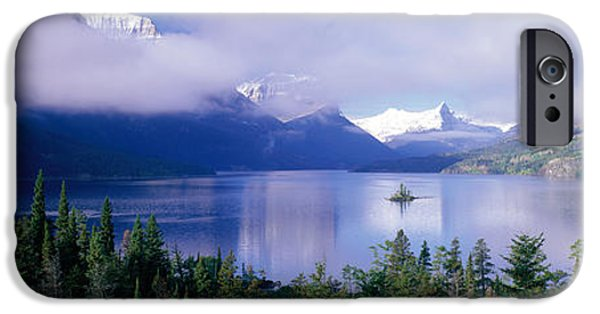 Mountain iPhone Cases - St Mary Lake, Glacier National Park iPhone Case by Panoramic Images
