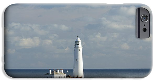 North Sea iPhone Cases - St Marys Island Tyne and Wear UK iPhone Case by John Potter