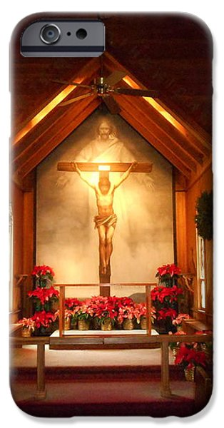 St. Mary's The Mystery of Faith Frescoe iPhone Case by Diannah Lynch