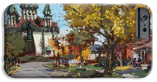 Town iPhone Cases - St. Marys Ukrainian Catholic Church iPhone Case by Ylli Haruni