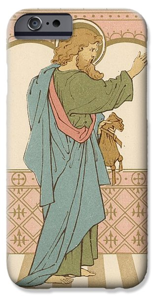 Robe Drawings iPhone Cases - St Matthew iPhone Case by English School