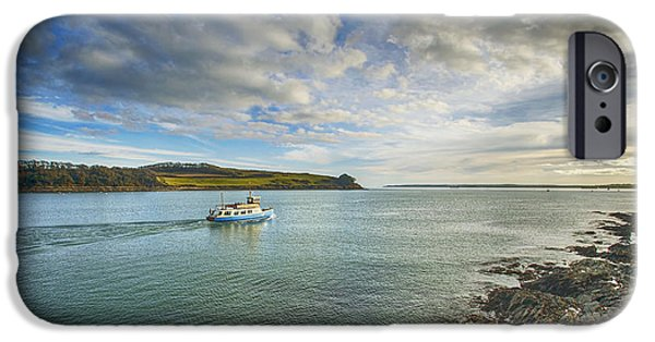 Duchess iPhone Cases - St Mawes Ferry Duchess of Cornwall iPhone Case by Chris Thaxter