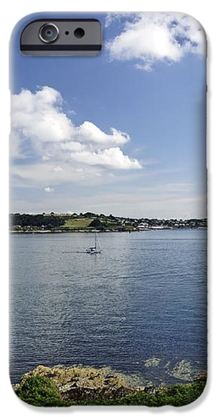 St Mawes from Pendennis Point iPhone Case by Rod Johnson