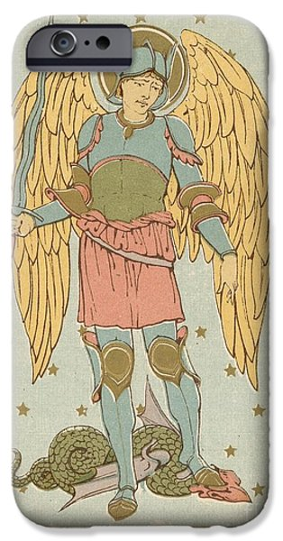 Robe Drawings iPhone Cases - St Michael and all Angels by English School iPhone Case by English School