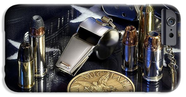 Sheriff iPhone Cases - St Michael Law Enforcement iPhone Case by Gary Yost