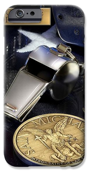 St Michael Law Enforcement iPhone Case by Gary Yost