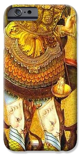 Michael Paintings iPhone Cases - St. Michael iPhone Case by Matteo TOTARO