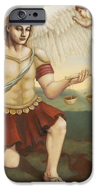 St. Michael the Archangel iPhone Case by Shelley  Irish
