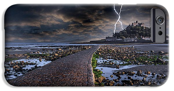 Pathway iPhone Cases - St Michaels Mount Cornwall iPhone Case by Martin Newman
