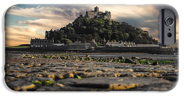 Cathedral Rock iPhone Cases - St Michaels Mount Cornwall uk iPhone Case by Martin Newman