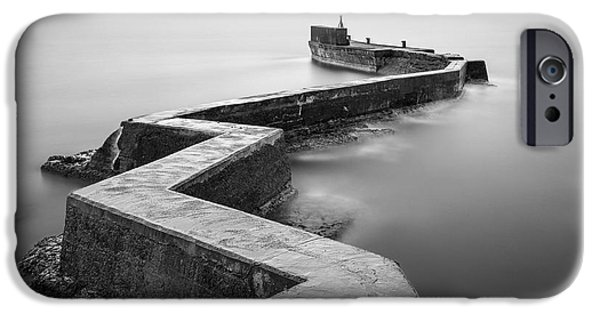 Dave iPhone Cases - St Monans Breakwater iPhone Case by Dave Bowman